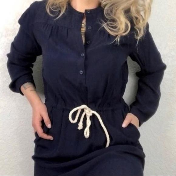J. Crew Dresses & Skirts - J CREW SHIRTDRESS WITH ROPE TIE BELT
